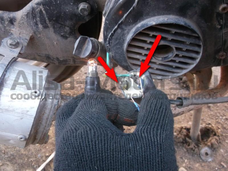 Проверка питания на катушке зажигания скутера