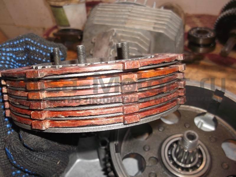 как ставить диски корзины сцепления мотоцикла иж-планета иж-юпитер