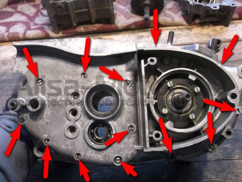 """Фотоотчет: Ремонт двигателя мотоцикла """"ИЖ-Планета"""" 2, 3, 4 и пятой модели - Alisa-motors"""